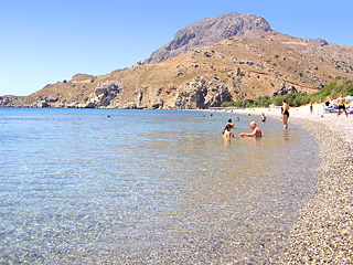 Souda beach, just 4km from AnnaView apartments