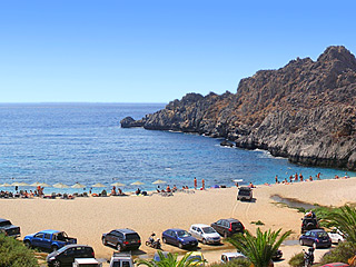 Schinaria beach, just 7km from AnnaView apartments
