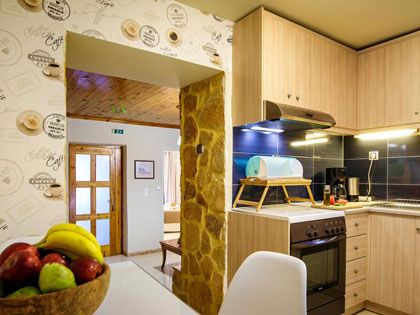 Fully-equipped kitchen rooms of the apartments