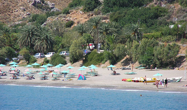 The Souda beach in Plakias