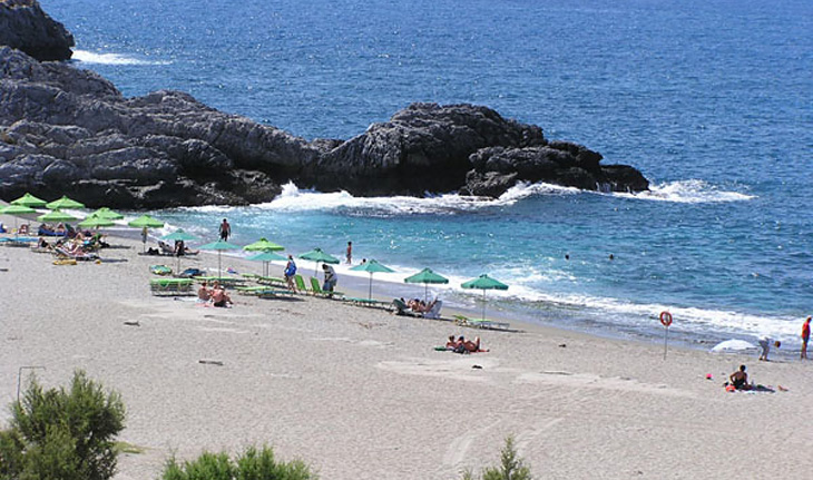 The Schoinaria Beach in Plakias