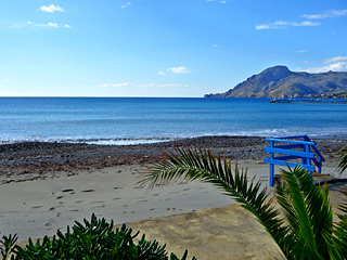 Winter Holidays in Crete - Plakias beach on a sunny Winter day