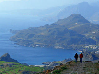 Winter Holidays in Crete - BREATHTAKING view from Timeos Stavros summit on a sunny Winter time