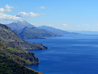 Winter Holidays in Crete - Amazing coastline in South crete on a sunny Winter day