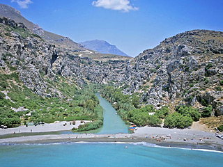 Preveli Palm Beach in Plakias, Crete