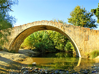 Preveli Bridge in Plakias, Crete